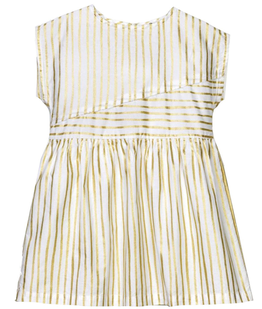 Andorine Striped Gold Dress Dress Andorine