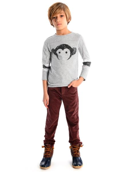 APPAMAN BURGUNDY SKINNY CORDS Pants Appaman
