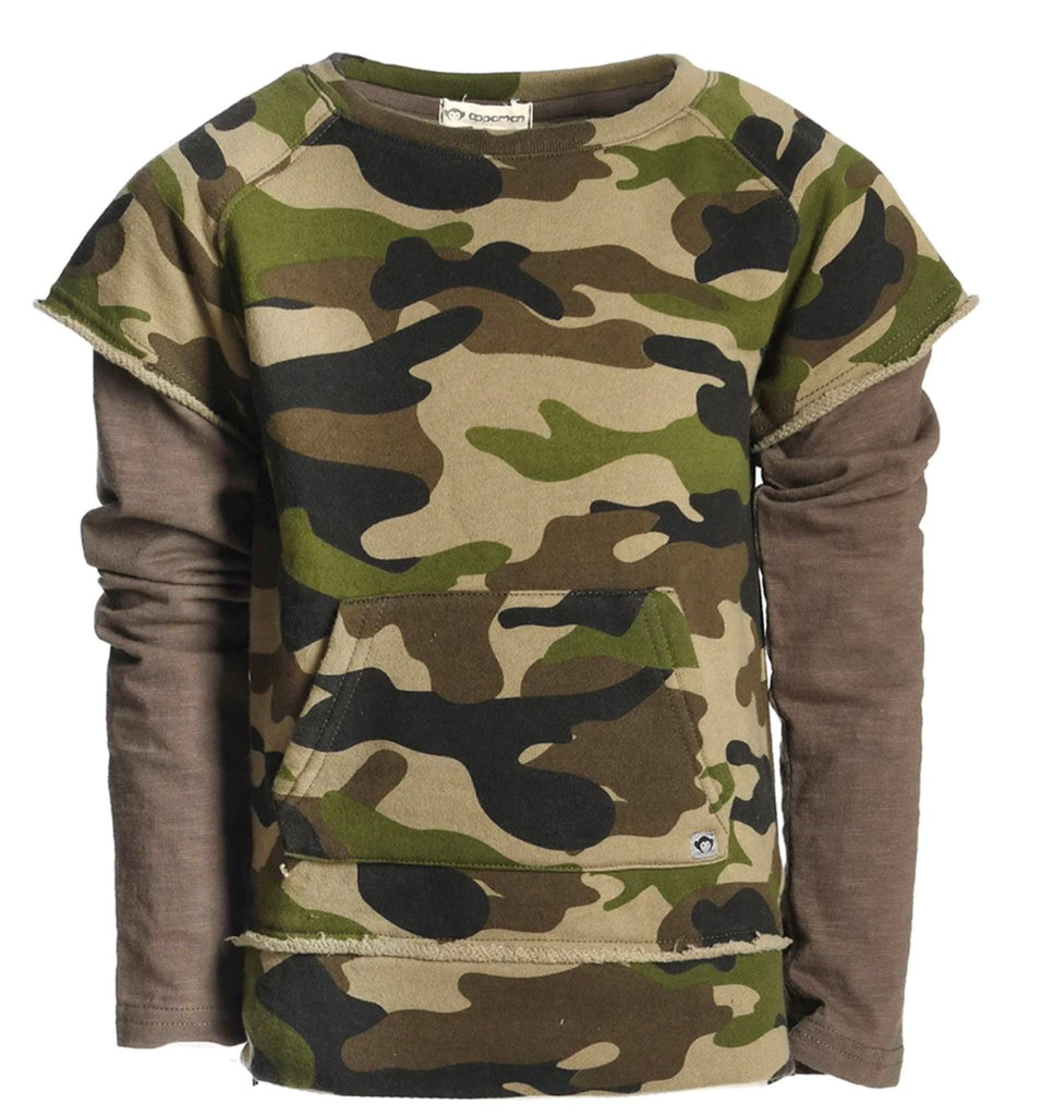 Appaman Freestyle Longsleeve Green Camo Tops Appaman