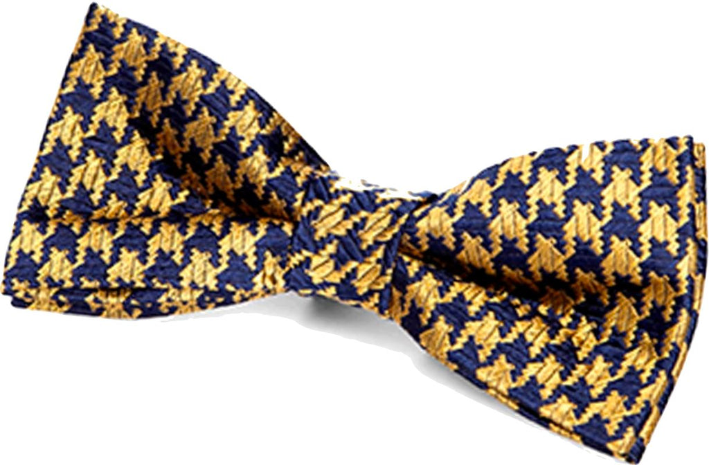 Appaman navy/gold houndstooth bow tie Accessories Appaman