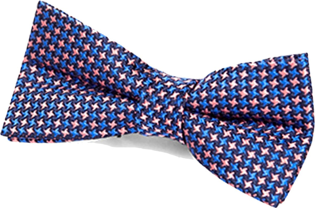 Appaman Pink/Blue Puppytooth Bow Tie Accessories Appaman