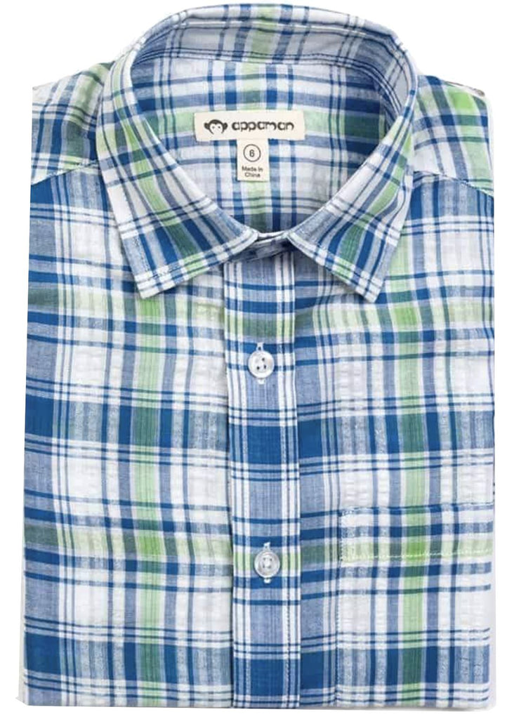 Appaman Sea Blue Plaid Shirt Shirt Appaman