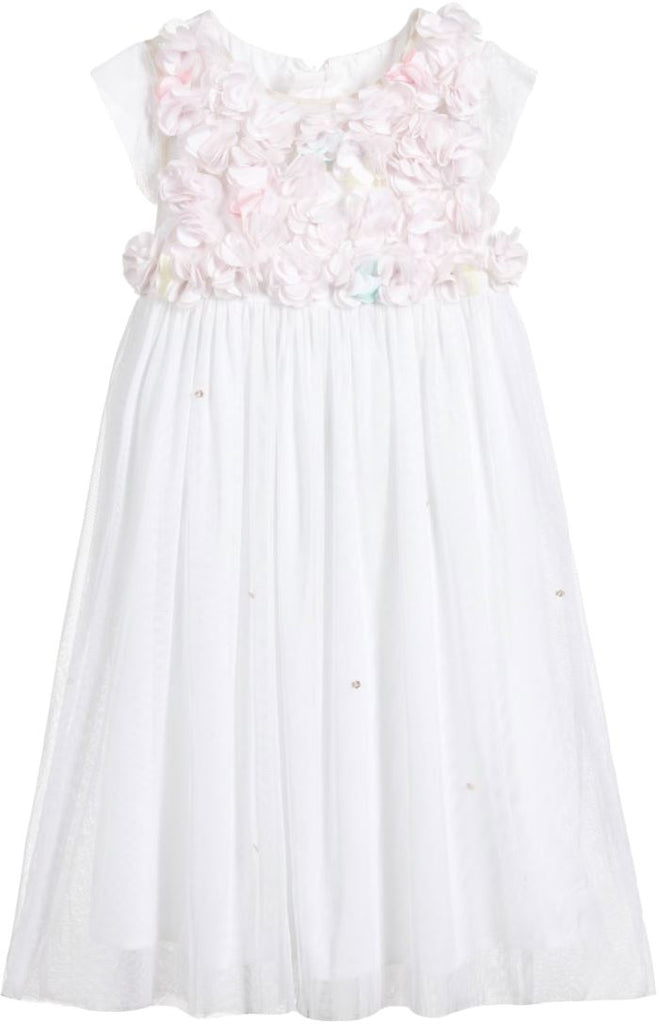 Billieblush Flower Top Tulle Dress Dress Billieblush