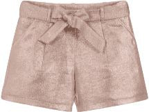 Billieblush Shiny Jacquard Shorts with Bow Shorts Billieblush