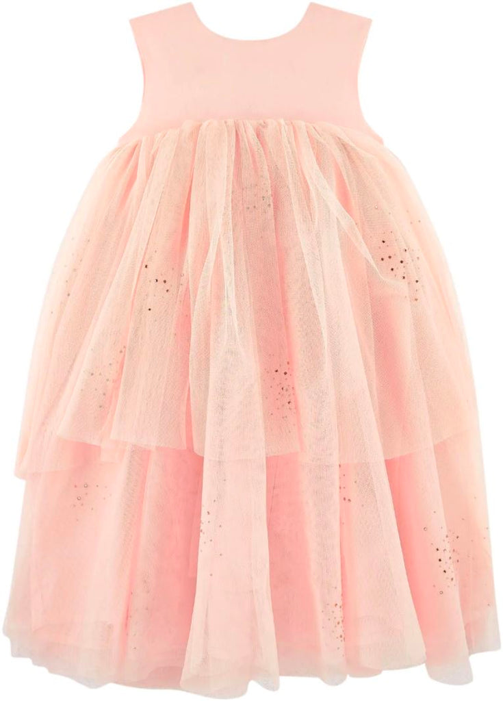 Billieblush Sleeveless Satin and Tulle Dress Dress Billieblush