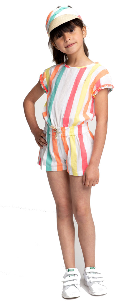 Billieblush Striped Shortalls Romper Billieblush
