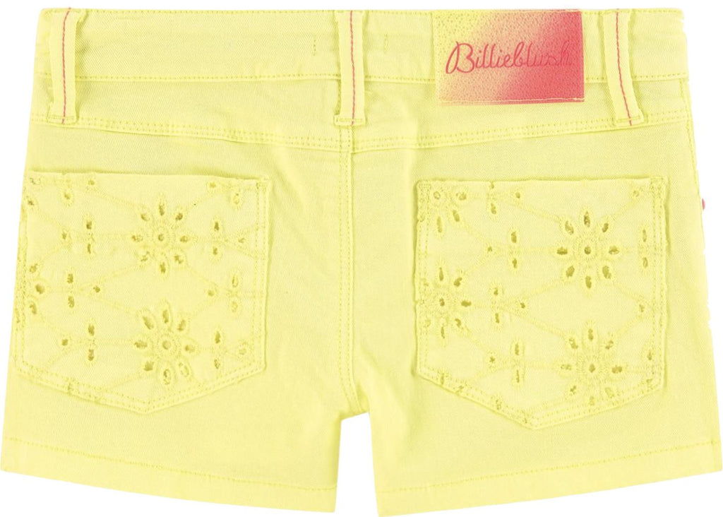 Billieblush Yellow Twill Shorts Shorts Billieblush