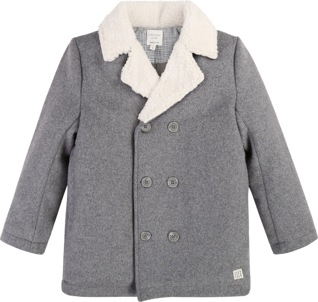 CARREMENT BEAU FUR COLLAR COAT Swoop