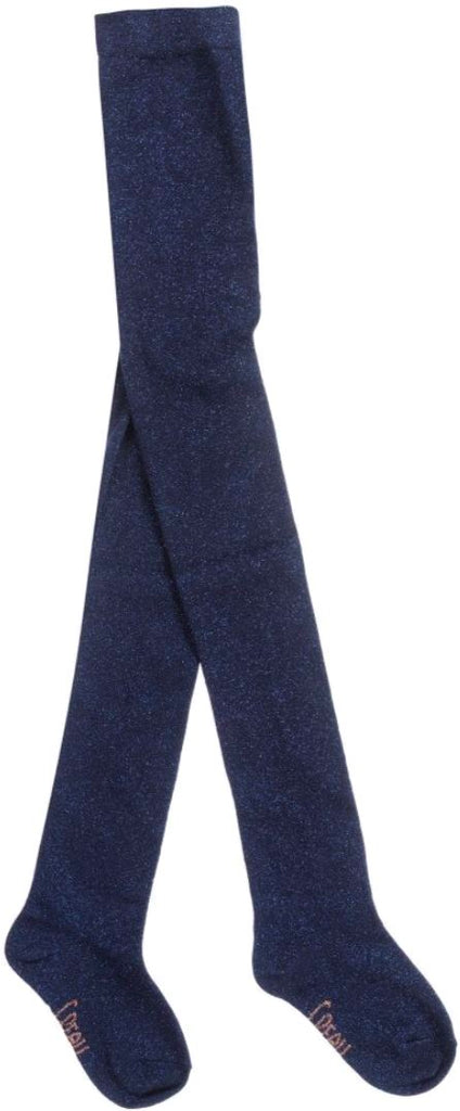 Carrement Beau Navy Lurex Tights Accessories Carrement Beau
