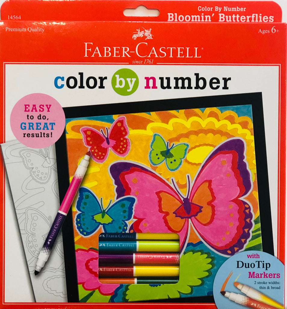 COLOR BY NUMBER BLOOMING BUTTERFLY Fun! Swoop