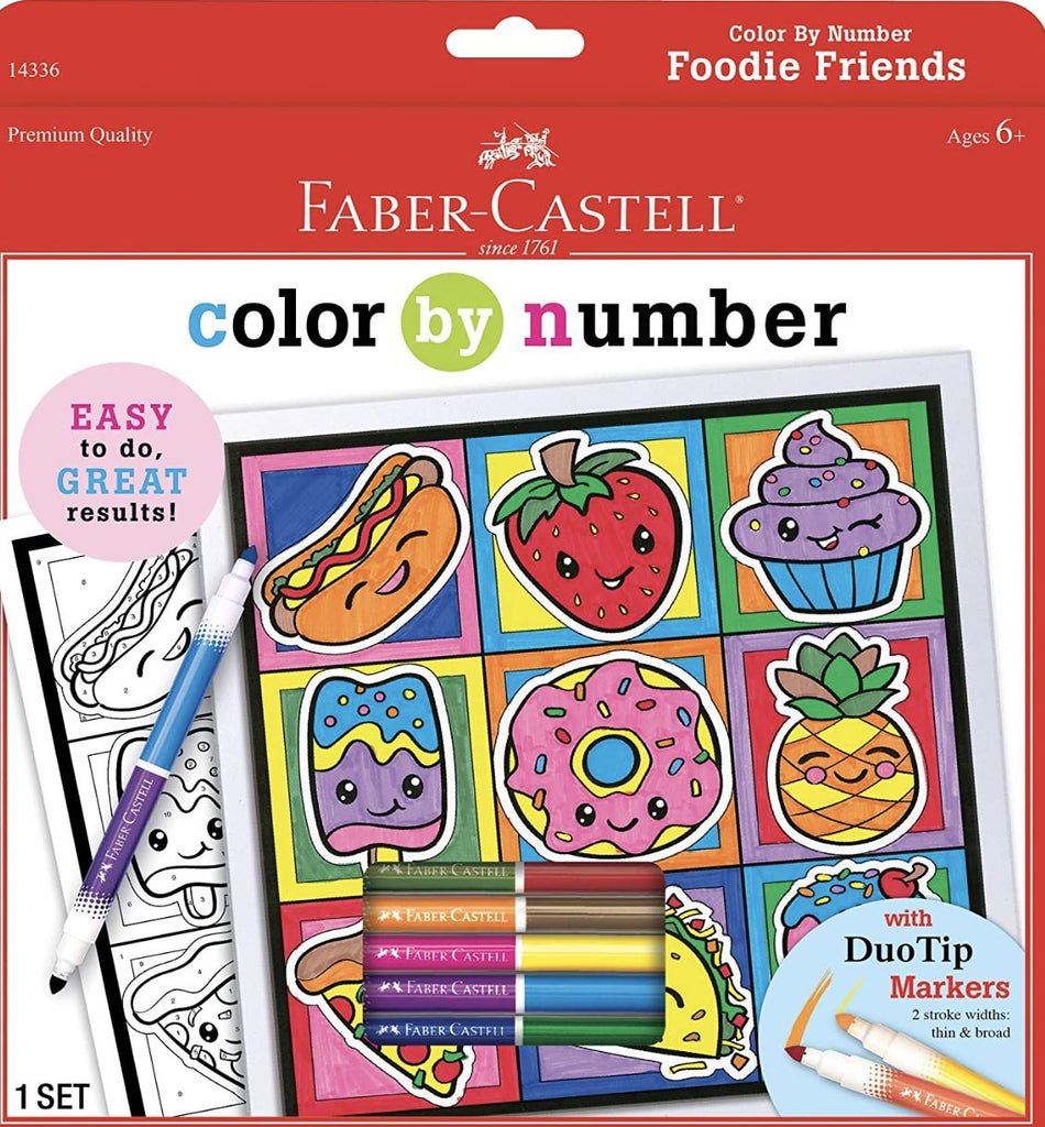 Color By Number Foodie Friends Fun! Swoop