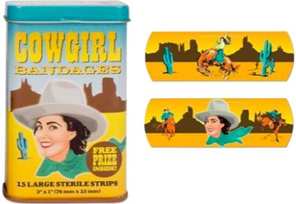 COWGIRL BANDAIDS Fun! Swoop