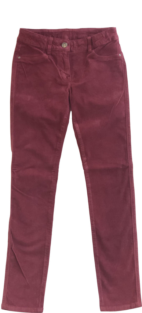 EDDIE PEN BORDEAUX VELVET BUPHY Pants Eddie Pen