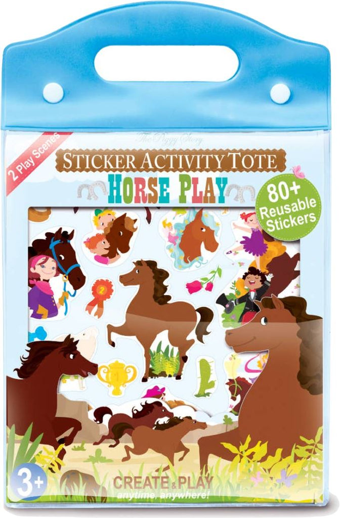 HORSE PLAY STICKER ACTIVITY TOTE Fun! Swoop