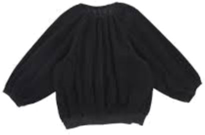 JNBY Black Corduroy Puff Sleeve Shirt Tops JNBY