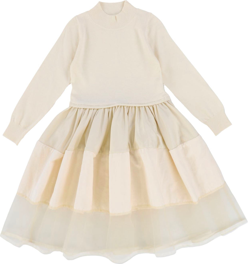 JNBY Cream Sweater Layer Dress Dress JNBY