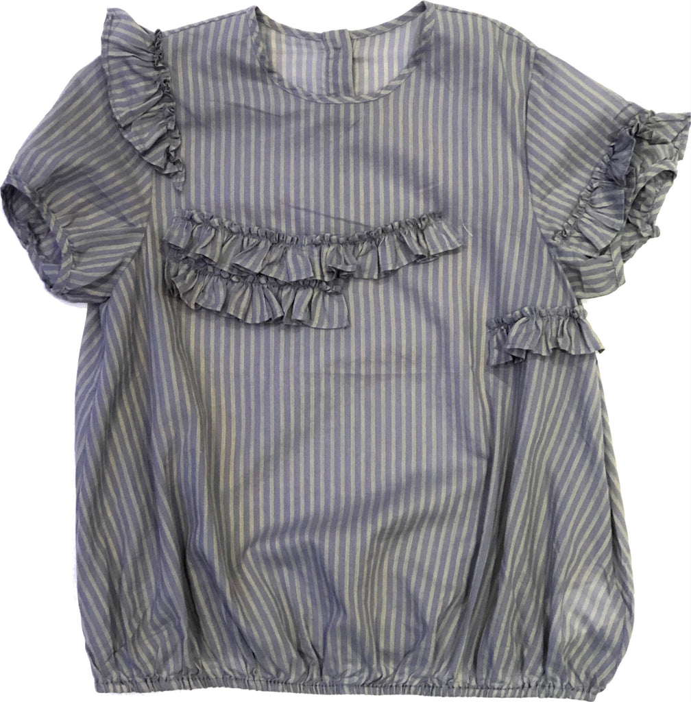 JNBY Grey Striped Top Top JNBY