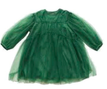 JNBY Long Sleeve Green Tulle Dress Dress JNBY