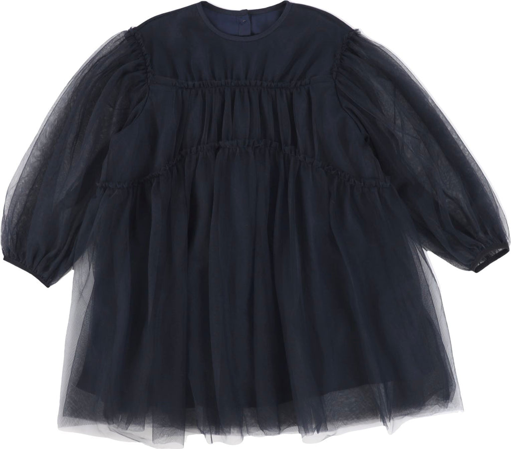 JNBY Navy Flowy Tulle Dress Dress JNBY