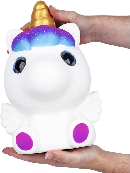 JUMBO SPARKLE EYE PEGASUS SQUISH Toys Swoop Is Fun