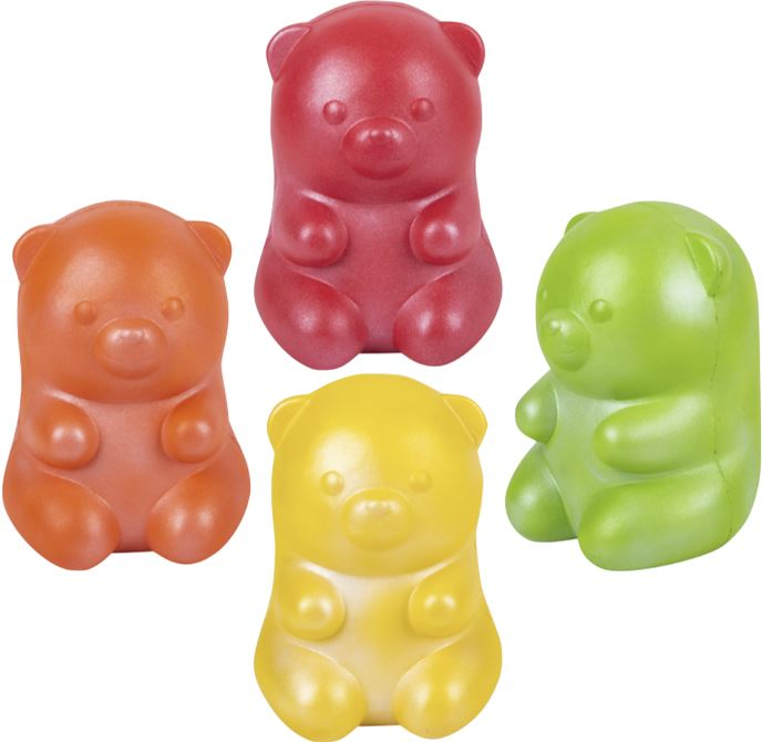JUMBO SQUISH GUMMY BEARS Fun! Swoop Is Fun Orange