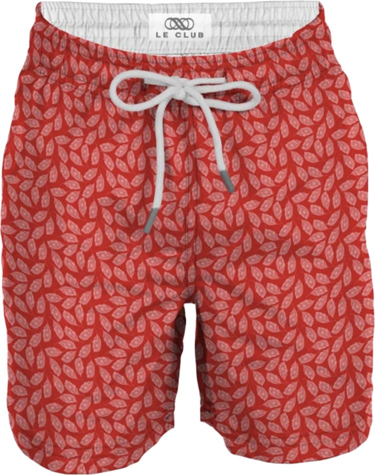 LE CLUB RED FALL SWIM TRUNKS Swim Le Club