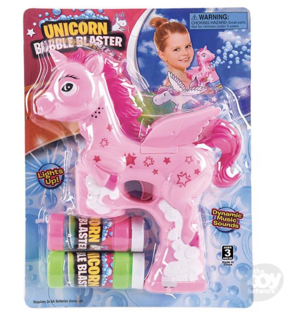 LIGHT AND SOUND UNICORN BUBBLE BLASTER Fun! swoop is fun PINK