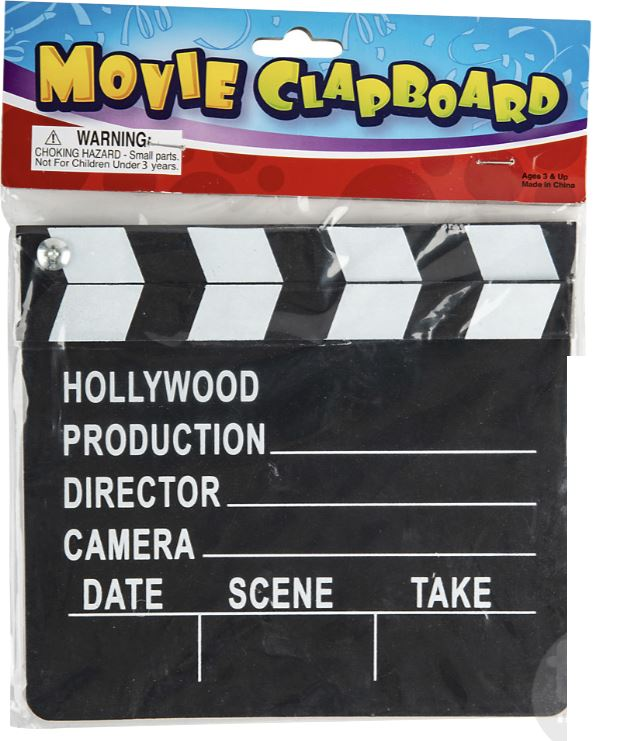 MOVIE CLAP BOARD Toys Swoop
