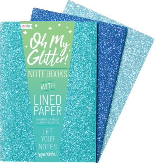 OH MY GLITTER NOTEBOOKS Swoop Blue