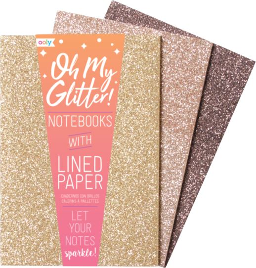OH MY GLITTER NOTEBOOKS Swoop Gold