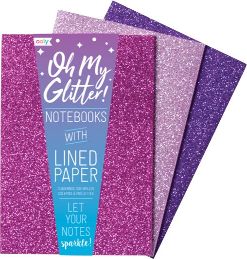 OH MY GLITTER NOTEBOOKS Swoop Pink