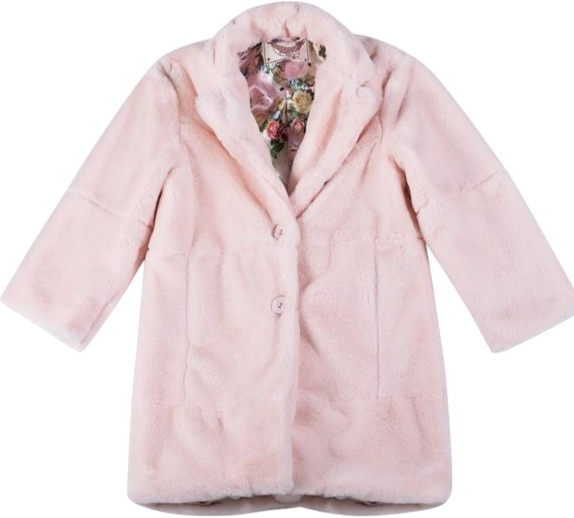 PAPER WINGS FUR ROSE UNICORN COAT Jackets & Coats Paper Wings