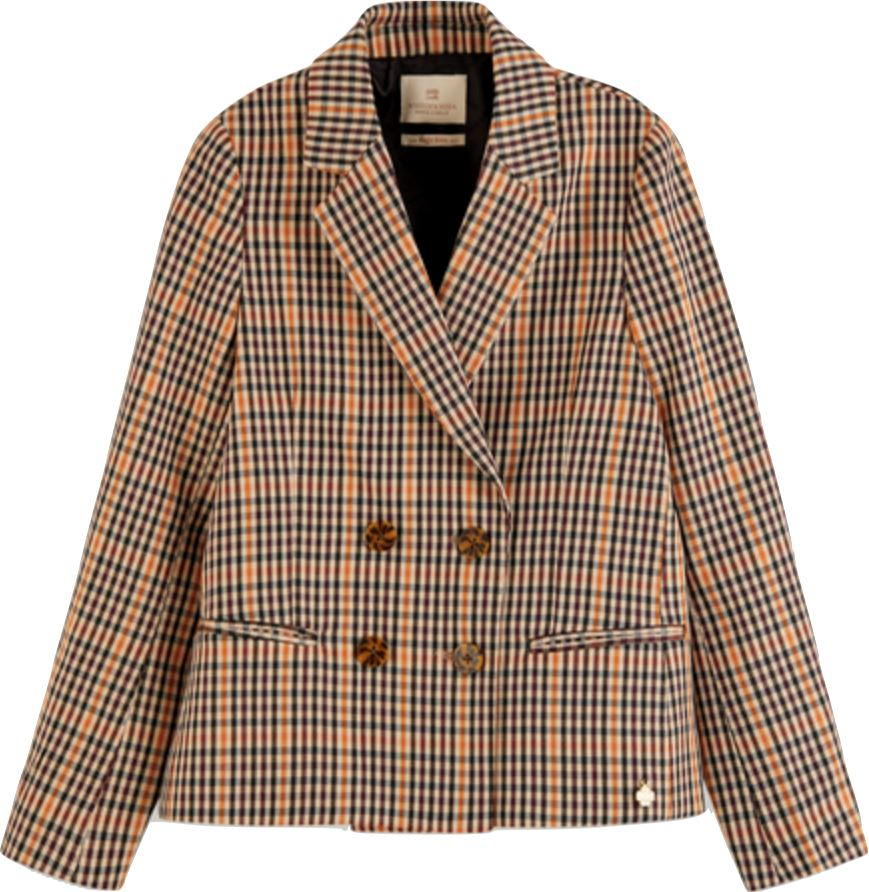 Scotch R' Belle Girls Double Breasted Checked Blazer blazer Scotch R' Belle