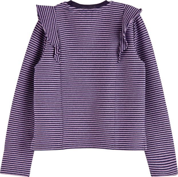 Scotch R' Belle Girls Lurex Long Sleeve T-shirt with Ruffles Tops Scotch R' Belle