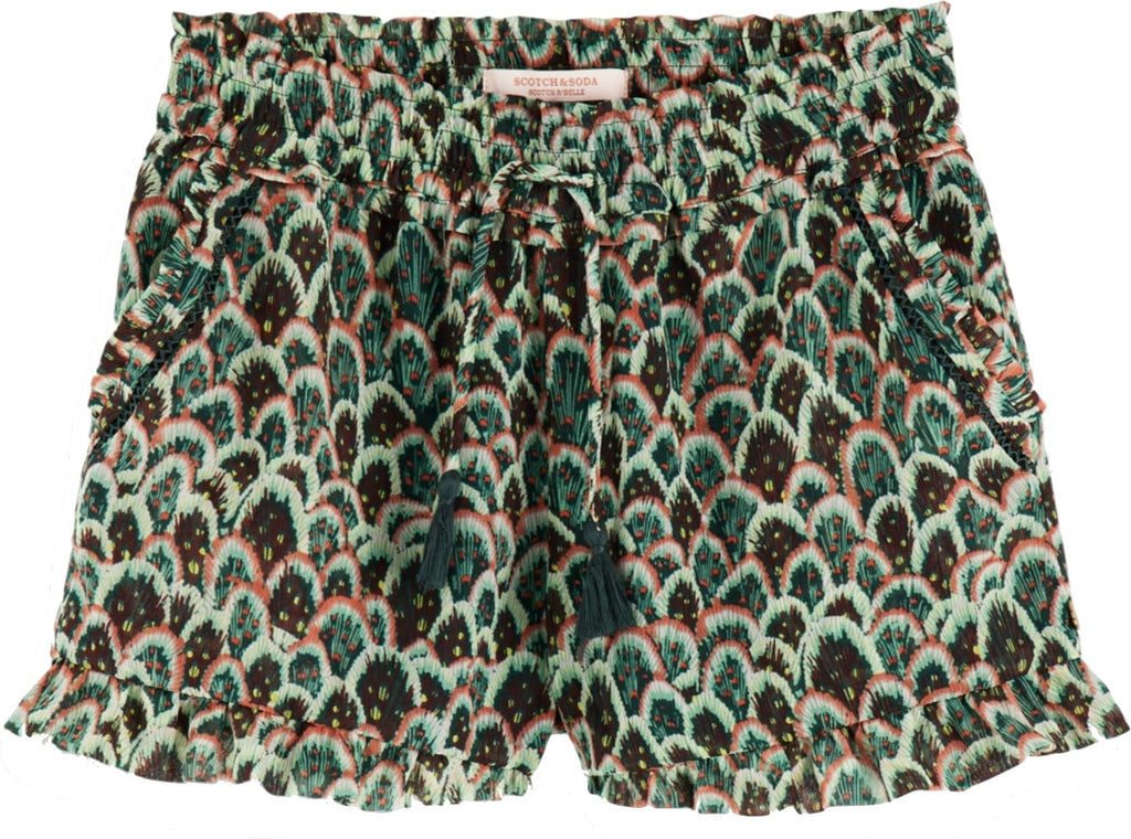 Scotch R' Belle Green Ladder Shorts Shorts Scotch R'Belle