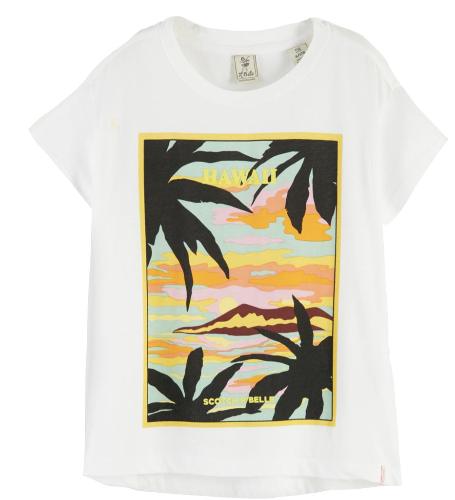 Scotch R' Belle Hawaiian T-Shirt Tops Scotch & Soda