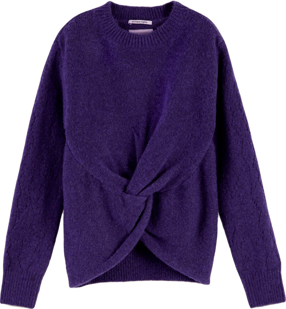 Scotch R' Belle Wool Knit Wrapover Sweater Purple sweater Scotch R' Belle