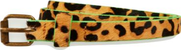 Scotch R' Belle Cheetah Print Girl's Leather Belt Accessories Scotch Shrunk
