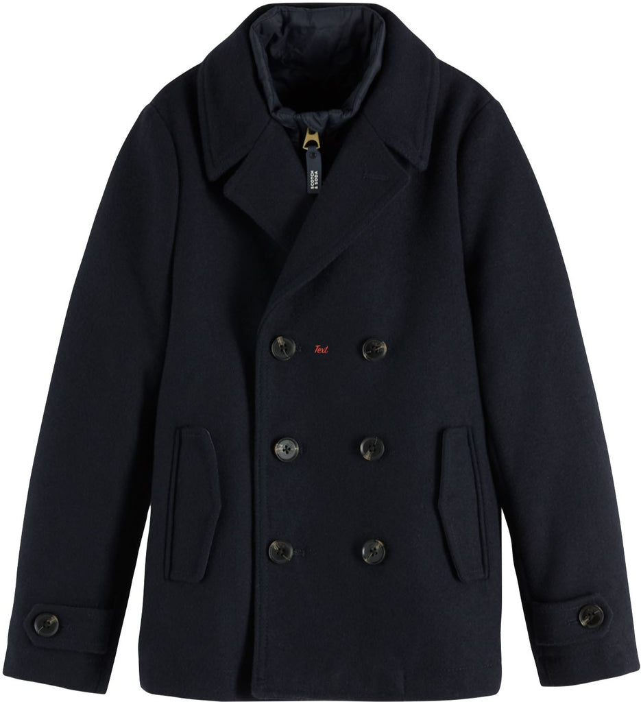 SCOTCH SHRUNK CLASSIC PEACOAT Jackets & Coats Scotch Shrunk
