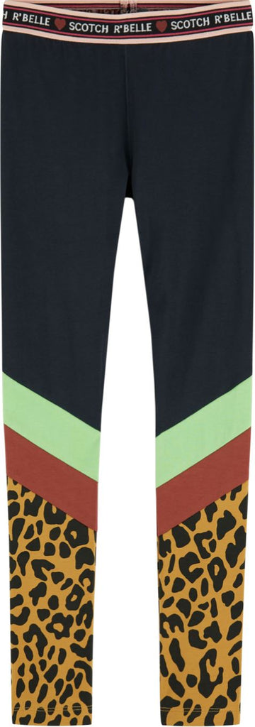 Scotch R' Belle Colorblock Leggings Pants Scotch Shrunk