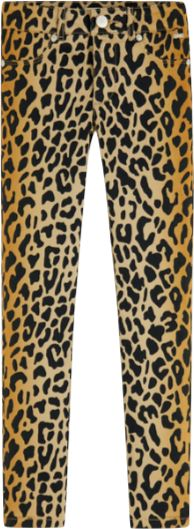 Scotch R' Belle Girls Leopard Skinny Pant Pants Scotch Shrunk