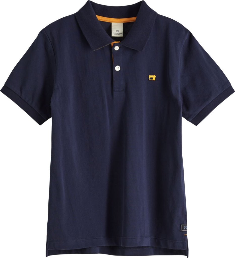 SCOTCH SHRUNK NAVY POLO Tops Scotch Shrunk