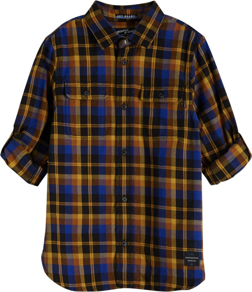 SCOTCH SHRUNK PLAID SHIRT Top Scotch Shrunk