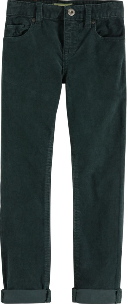 SCOTCH SHRUNK SKINNY 5 POCKET CORD-GREEN Pants Scotch Shrunk