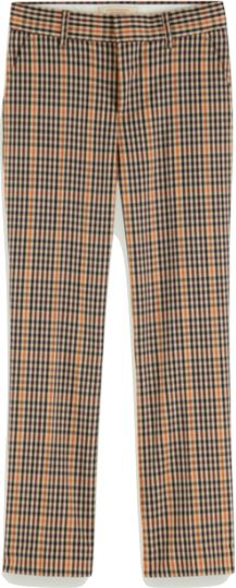 Scotch Shrunk Slim Fit Checked Tailored Pant Pants Scotch Shrunk