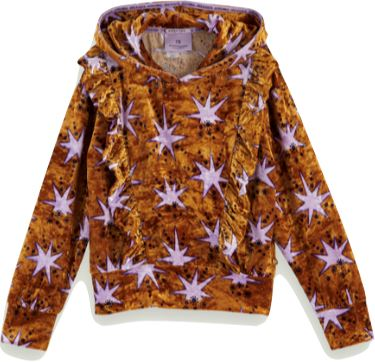 Scotch R' Belle Velvet Star Print Hoodie Tops Scotch Shrunk