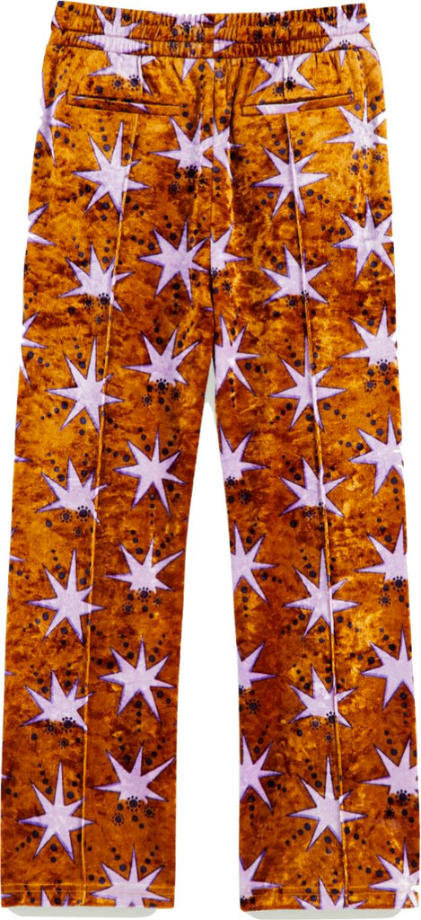 Scotch Shrunk Velvet Star Print Wide Leg Sweatpants Pants Scotch Shrunk