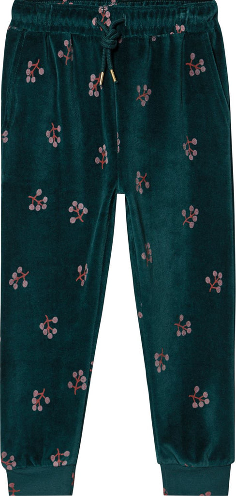 SOFT GALLERY TEAL VELVET SWEATS. Pants Soft Gallery