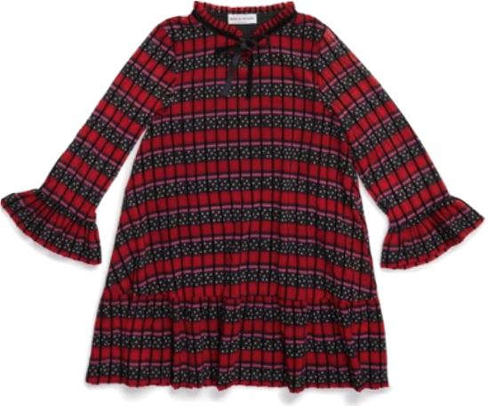 Sonia Rykiel Long Sleeve Star Voile and Flock Dress Dress Sonia Rykiel