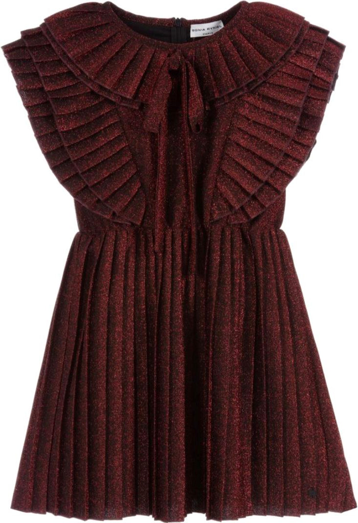 Sonia Rykiel Pleated Glitter Jersey Dress Dress Sonia Rykiel
